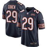 Men's Nike Tarik Cohen Navy Chicago Bears 100th Season Game Jersey