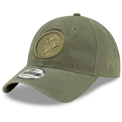 Men's New Era Olive Pittsburgh Steelers Core Classic Tonal 9TWENTY Adjustable Hat