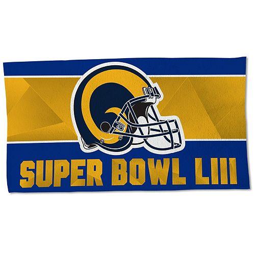 WinCraft Los Angeles Rams 2018 NFC Champions Locker Room 22'' x 42'' 2-Sided Towel