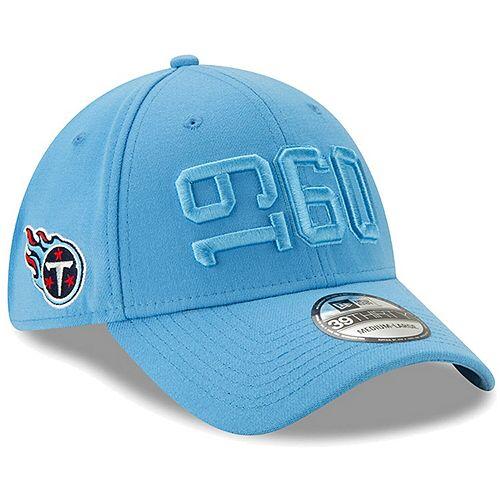 Men's New Era Powder Blue Tennessee Titans 2019 NFL Sideline Color Rush 39THIRTY Flex Hat