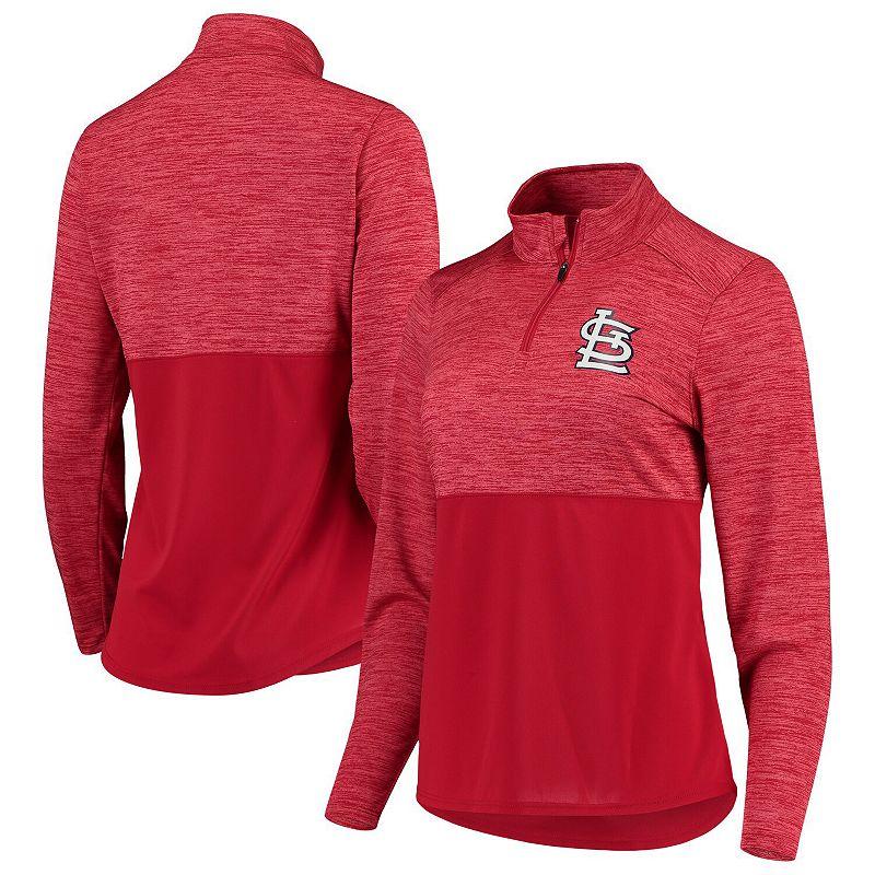 Women's Fanatics Branded Red St. Louis Cardinals Quarter-Zip Pullover Jacket. Size: XS