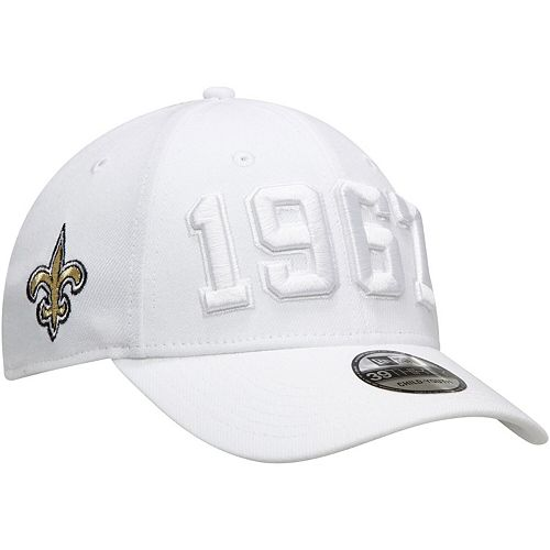Youth New Era White New Orleans Saints 2019 NFL Sideline Color Rush 39THIRTY Flex Hat