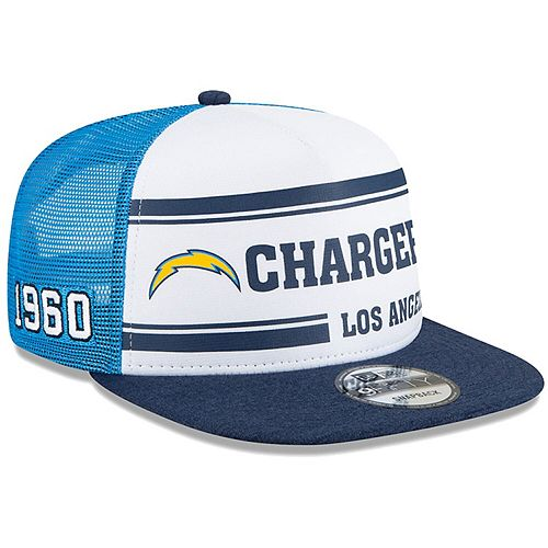 Men's New Era White/Blue Los Angeles Chargers 2019 NFL Sideline Home Alternate 9FIFTY 1970s Snapback Adjustable Hat