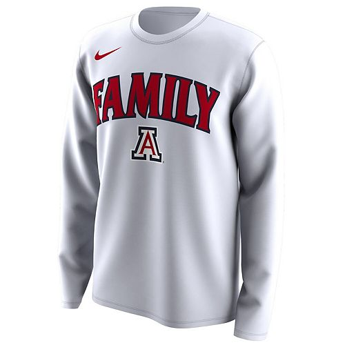 Men's Nike White Arizona Wildcats March Madness Family on Court Legend Basketball Performance Long Sleeve T-Shirt