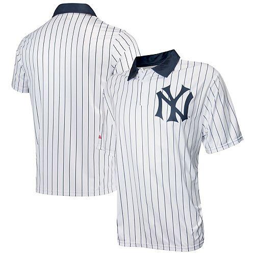 Men's Stitches White New York Yankees Sublimated Polo