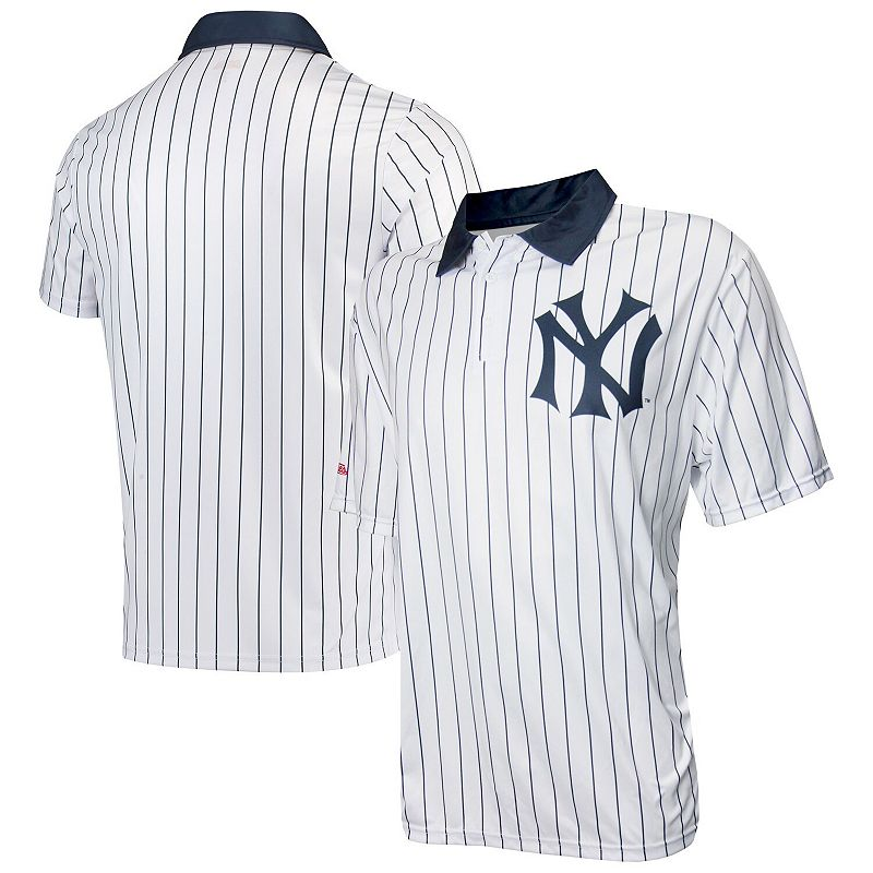 Men's Stitches White New York Yankees Sublimated Polo. Size: Small