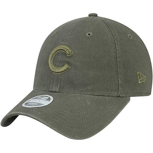 Women's New Era Green Chicago Cubs Olive Tonal Core Classic 9TWENTY Adjustable Hat