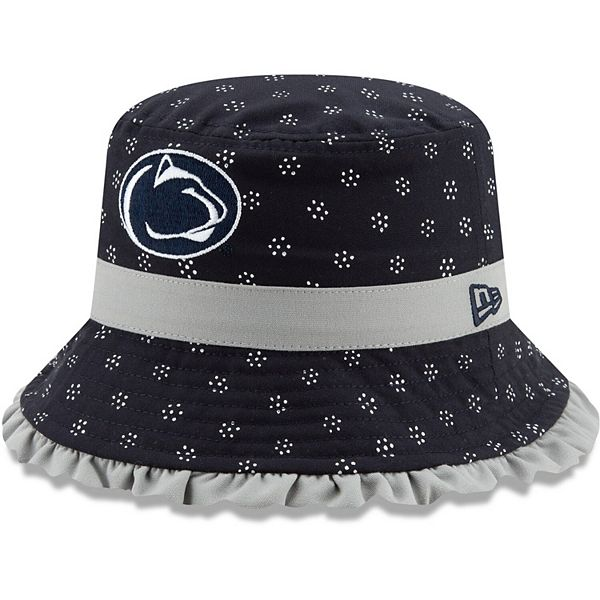 Girls Toddler New Era Navy Penn State Nittany Lions Team Color Frill Bucket Hat