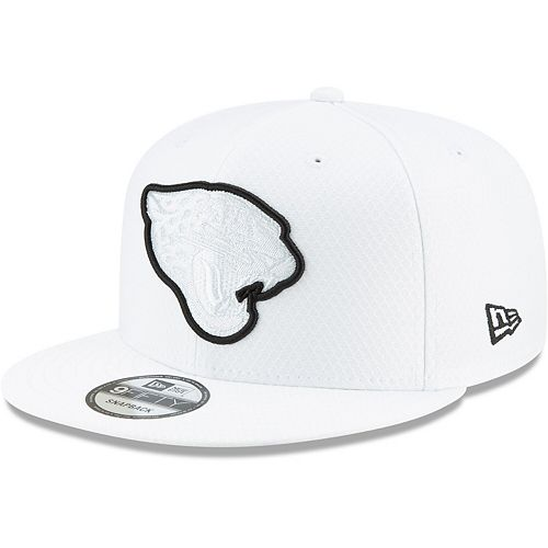 Men's New Era White Jacksonville Jaguars 2019 NFL Sideline Platinum 9FIFTY Snapback Adjustable Hat