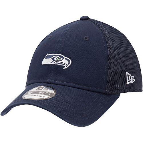 Men's New Era College Navy Seattle Seahawks Team Precision 39THIRTY Flex Hat