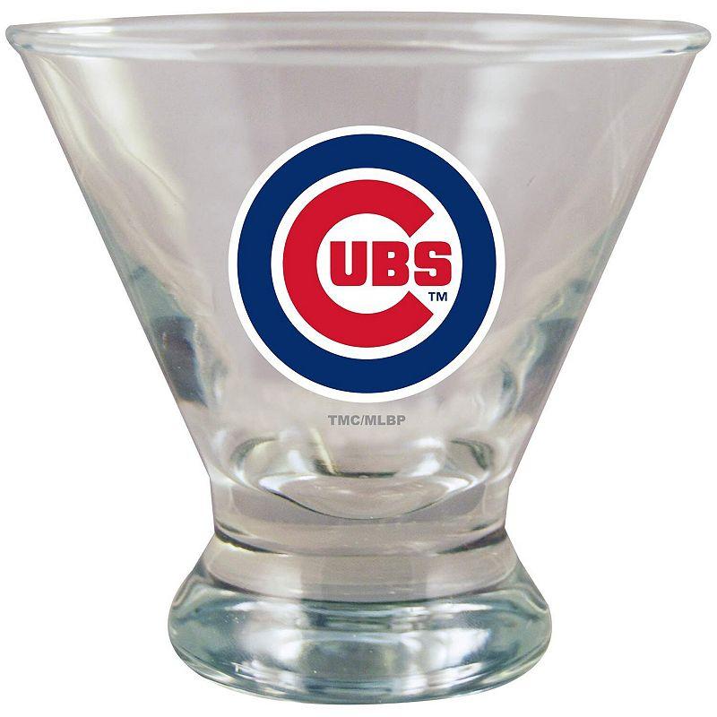 Chicago Cubs Martini Glass. Multicolor