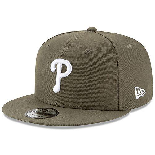 Men's New Era Olive Philadelphia Phillies Basic 9FIFTY Adjustable Snapback Hat