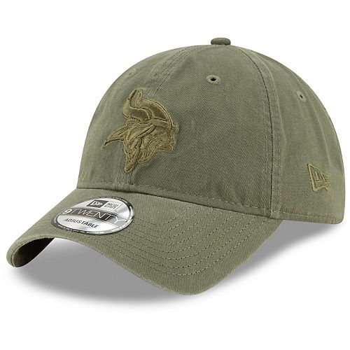 Men's New Era Olive Minnesota Vikings Core Classic Tonal 9TWENTY Adjustable Hat