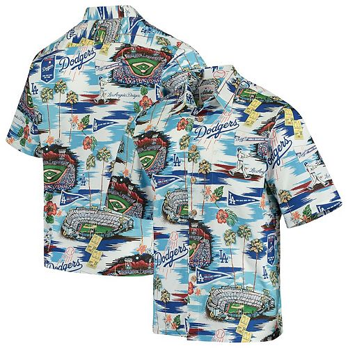 Los Angeles Dodgers Reyn Spooner Scenic Button-Up Shirt  Royal