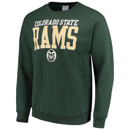 Men's Champion® Green Colorado State Rams Eco Powerblend Expansion Pullover Sweatshirt