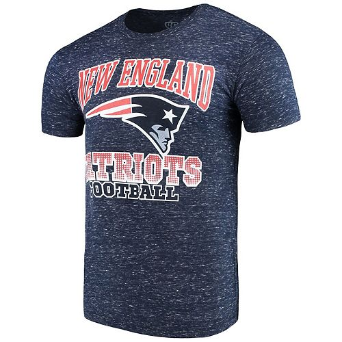 Men's G-III Sports by Carl Banks Navy New England Patriots Outfield Speckle T-Shirt