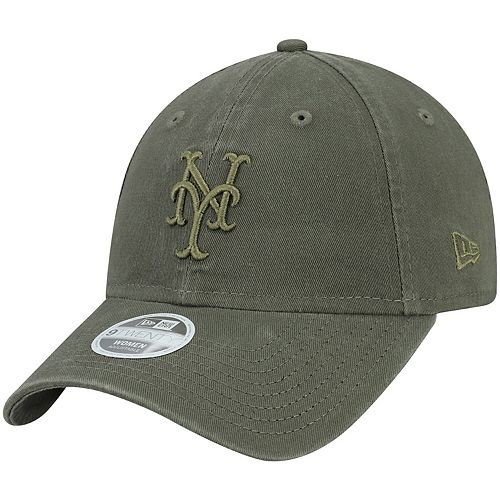 Women's New Era Green New York Mets Olive Tonal Core Classic 9TWENTY Adjustable Hat