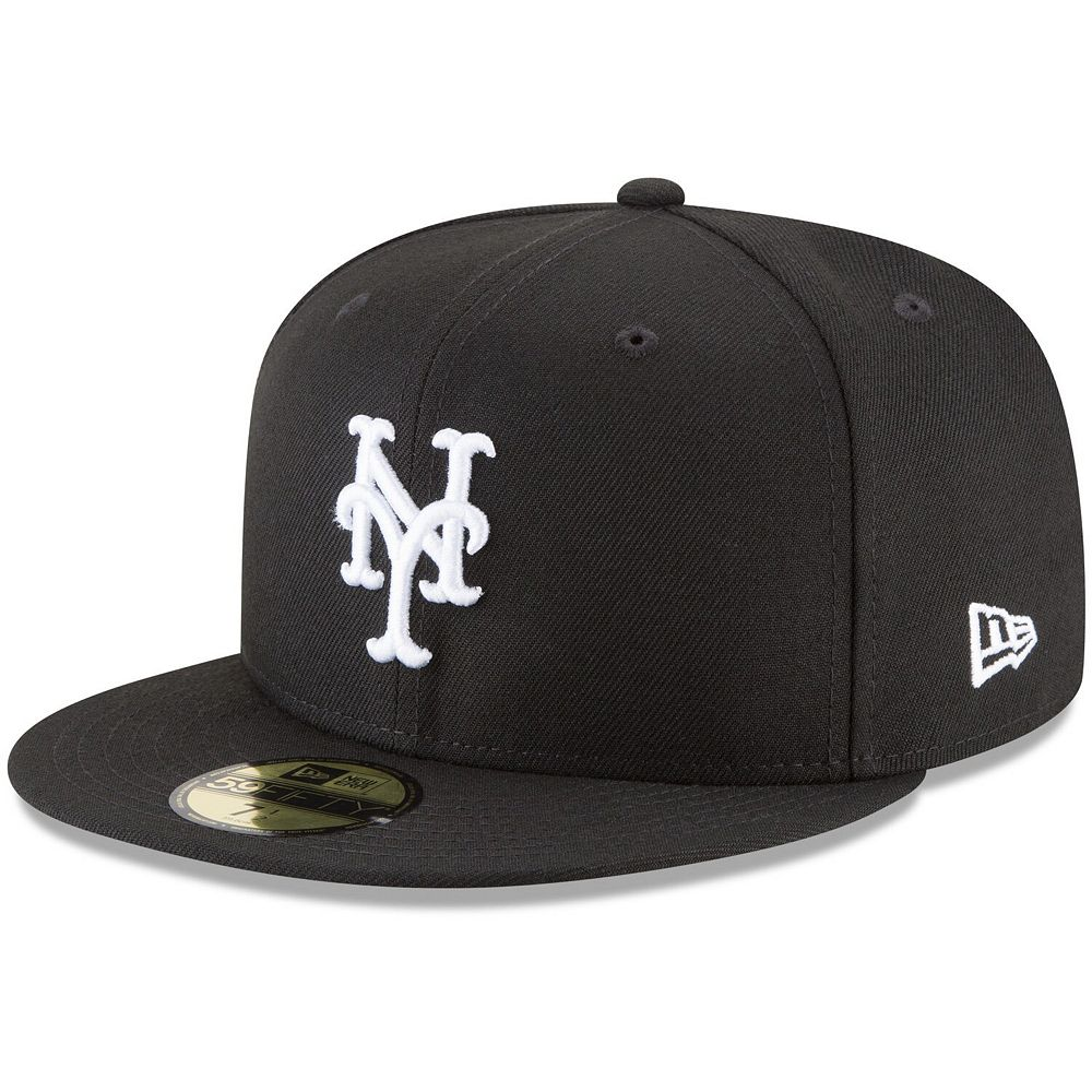 Men's New Era Black New York Mets Basic 59FIFTY Fitted Hat