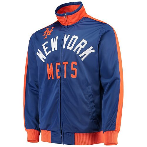 Men's G-III Sports by Carl Banks Royal New York Mets Final Four Full-Zip Track Jacket