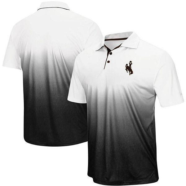Men's Colosseum Gray Wyoming Cowboys Magic Team Logo Polo