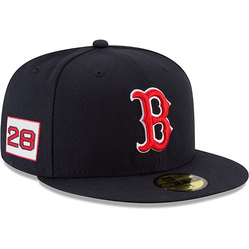 J.D. Martinez Boston Red Sox New Era Player Patch 59FIFTY Fitted Hat - Navy