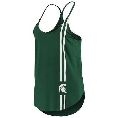 Women's Colosseum Green Michigan State Spartans Dunkirk Strappy Tank Top