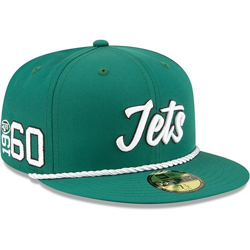 Men's New Era Green New York Jets 2019 NFL Sideline Home Official 59FIFTY 1960s Fitted Hat