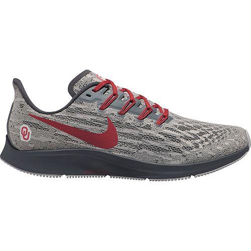 Men's Nike Gray/Crimson Oklahoma Sooners Air Zoom Pegasus 36 Running Shoes