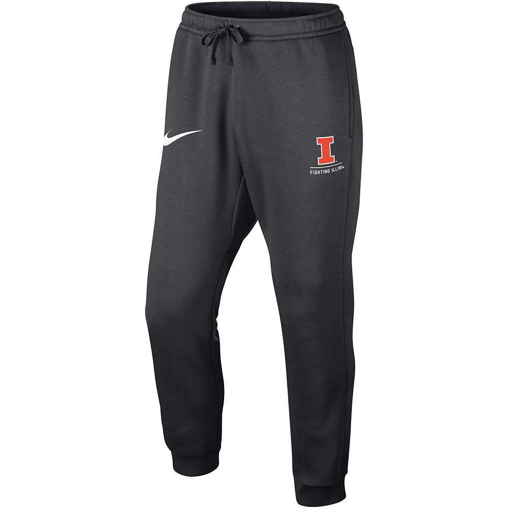 Men's Nike Anthracite Illinois Fighting Illini Club Fleece Joggers