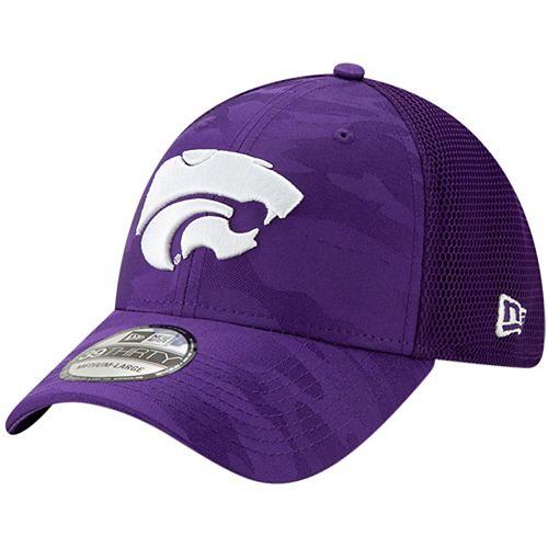 Men's New Era Purple Kansas State Wildcats Camo Neo Front 39THIRTY Flex Hat