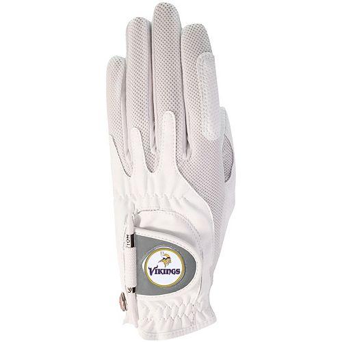 Women's White Minnesota Vikings Left Hand Golf Glove & Ball Marker