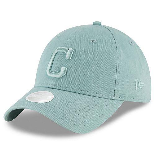 Women's New Era Mint Green Cleveland Indians Beach Kiss Blue Core Classic 9TWENTY Hat