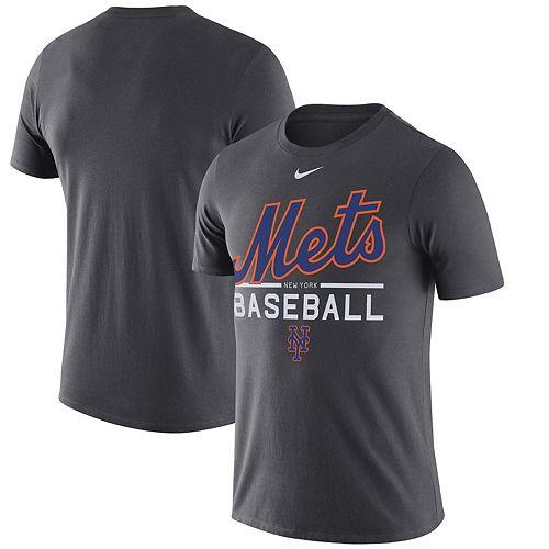 Men's Nike Anthracite New York Mets Practice Performance T-Shirt