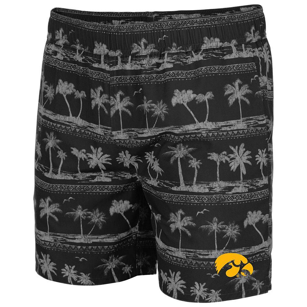Men's Colosseum Black Iowa Hawkeyes Maui Swim Shorts