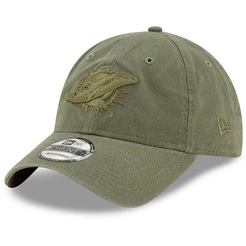 Men's New Era Olive Miami Dolphins Core Classic Tonal 9TWENTY Adjustable Hat