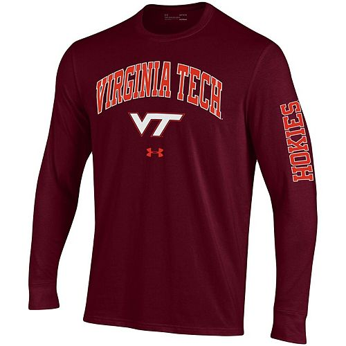 Men's Under Armour Maroon Virginia Tech Hokies Arched Two-Hit Performance Long Sleeve T-Shirt