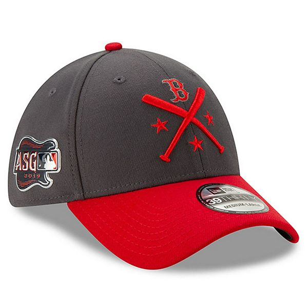 Men's New Era Graphite/Red Boston Red Sox 2019 MLB All-Star Workout 39THIRTY Flex Hat