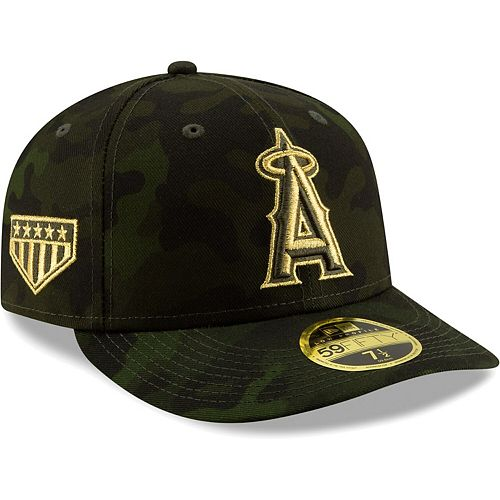 Los Angeles Angels New Era 2019 MLB Armed Forces Day On-Field Low Profile 59FIFTY Fitted Hat - Camo