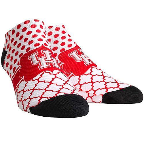 Women's Houston Cougars Quatrefoil Dots Ankle Socks