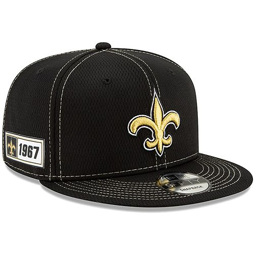 Men's New Era Black New Orleans Saints 2019 NFL Sideline Road Official 9FIFTY Snapback Adjustable Hat