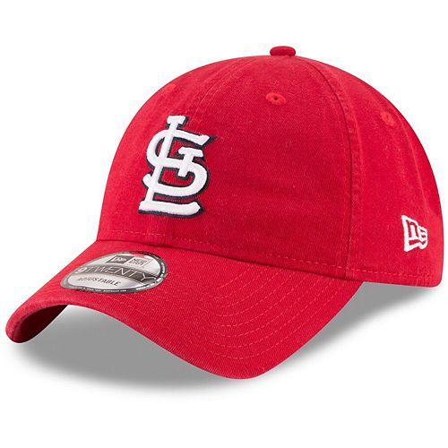 Youth New Era Red St. Louis Cardinals Core Classic Replica 9TWENTY Adjustable Hat