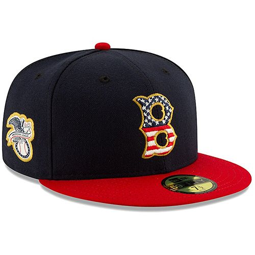 Men's New Era Navy/Red Boston Red Sox 2019 Stars & Stripes 4th of July On-Field 59FIFTY Fitted Hat