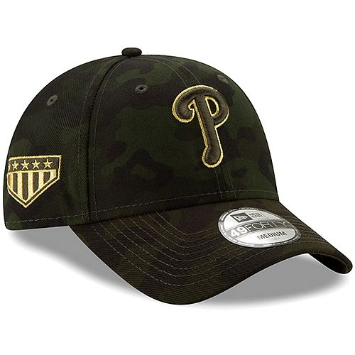 Philadelphia Phillies New Era 2019 MLB Armed Forces Day 49FORTY Fitted Hat - Camo