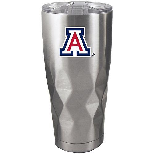 Arizona Wildcats 22oz. Diamond Bottom Stainless Steel Tumbler
