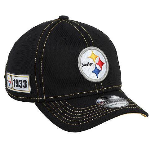 Toddler New Era Black Pittsburgh Steelers 2019 NFL Sideline Road 39THIRTY Flex Hat