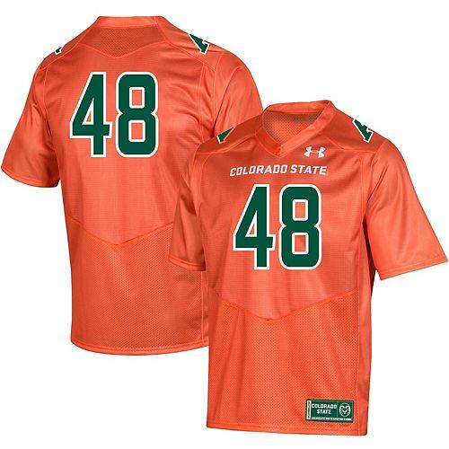 Men's Under Armour #48 Orange Colorado State Rams Special Game Replica Jersey