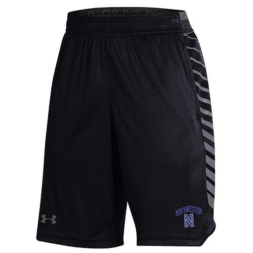 Youth Under Armour Black Northwestern Wildcats MK-1 Performance Shorts