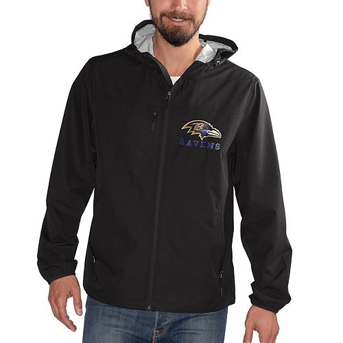 Men's G-III Sports by Carl Banks Black Baltimore Ravens Double Play Full-Zip Jacket
