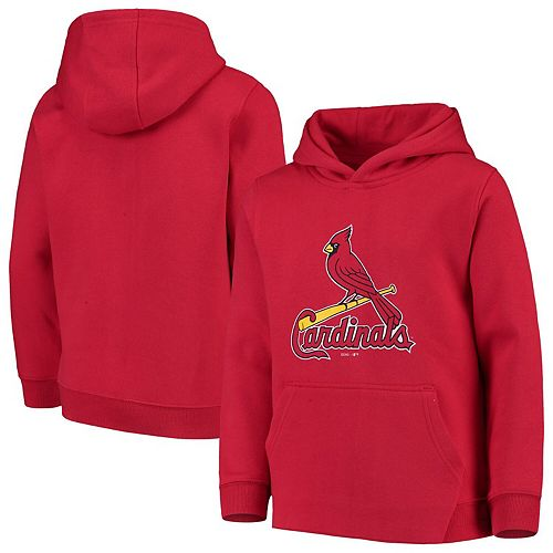 Youth Red St. Louis Cardinals Primary Logo Pullover Hoodie