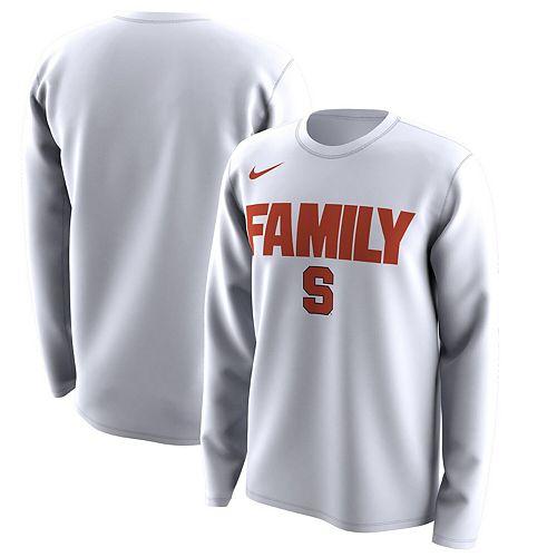 Men S Nike White Syracuse Orange March Madness Family On Court Legend Basketball Performance Long Sleeve T Shirt